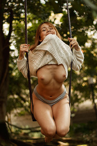 Model Annie Duque in Swing A Ling